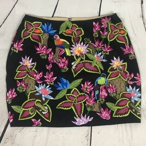 Nicole Miller Artelier embroidered mini skirt NWT